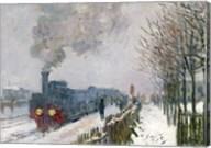 Train in the Snow or The Locomotive, 1875 Fine-Art Print