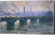 Waterloo Bridge, Cloudy Day, 1900 Fine-Art Print