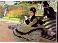 Madame Monet on a Garden Bench Fine-Art Print