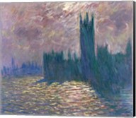 Parliament, Reflections on the Thames, 1905 Fine-Art Print