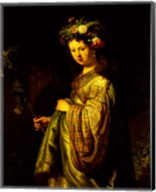 Saskia as Flora, 1634 Fine-Art Print
