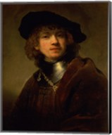 'Tronie' of a Young Man with Gorget and Beret, c.1639 Fine-Art Print