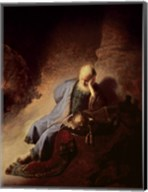 Jeremiah mourning over the Destruction of Jerusalem Fine-Art Print