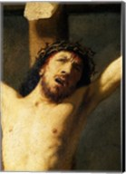 Christ on the Cross, detail of the head Fine-Art Print