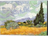 Wheatfield with Cypresses, 1889 Fine-Art Print