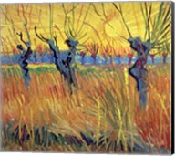 Pollarded Willows and Setting Sun, 1888 Fine-Art Print