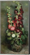 Vase of Hollyhocks, 1886 Fine-Art Print