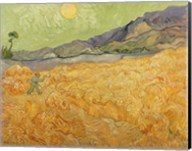 Wheatfield with Reaper, 1889 Fine-Art Print