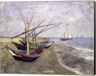 Fishing Boats on the Beach at Saintes-Maries-de-la-Mer Fine-Art Print