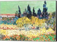 The Garden at Arles, detail of the cypress trees Fine-Art Print