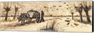 Ox-Cart in the Snow Fine-Art Print