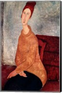 Jeanne Hebuterne in a Yellow Jumper, 1918-19 Fine-Art Print