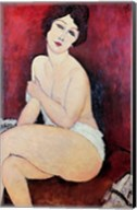 Large Seated Nude Fine-Art Print
