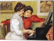 Yvonne and Christine Lerolle at the piano, 1897 Fine-Art Print