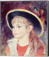 Portrait of a Young Girl in a Blue Hat, 1881 Fine-Art Print