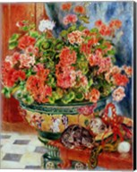Geraniums and Cats, 1881 Fine-Art Print
