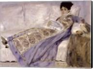Madame Monet on a Sofa, c.1874 Fine-Art Print