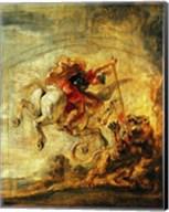 Bellerophon Riding Pegasus Fighting the Chimaera Fine-Art Print