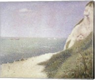 Beach at Bas Butin, Honfleur, 1886 Fine-Art Print
