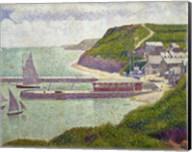 Harbour at Port-en-Bessin at High Tide, 1888 Fine-Art Print