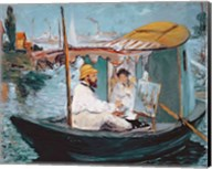 Monet in his Floating Studio, 1874 Fine-Art Print