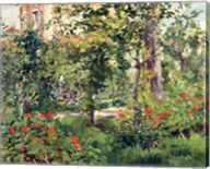 The Garden at Bellevue, 1880 Fine-Art Print