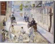 The Rue Mosnier with Workmen, 1878 Fine-Art Print