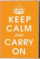 Keep Calm (orange) Fine-Art Print