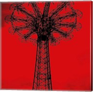 Red Parachute Jump Fine-Art Print