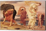 Greek Girls Picking up Pebbles Fine-Art Print