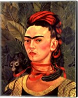 Self Portrait with a Monkey, 1940 Fine-Art Print