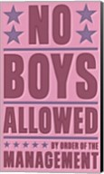 No Boys Allowed Fine-Art Print