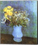 Vase with Lilacs, Daisies and Anemone Fine-Art Print