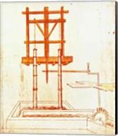 Hydraulic Water Pump for a Fountain Fine-Art Print