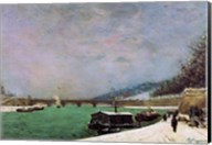 The Seine at the Pont d'Iena, Winter, 1875 Fine-Art Print
