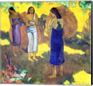 Three Tahitian Women against a Yellow Background, 1899 Fine-Art Print