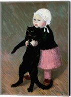 A Small Girl with a Cat, 1889 Fine-Art Print