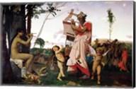 Anacreon, Bacchus and Aphrodite, 1848 Fine-Art Print