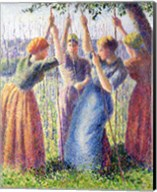 Women Planting Peasticks, 1891 Fine-Art Print