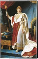 Napoleon I in his coronation robe, c.1804 Fine-Art Print