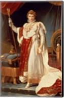 Napoleon in Coronation Robes, c.1804 Fine-Art Print
