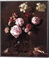 Peonies with Roses and Sweet Peas Fine-Art Print