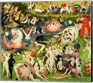The Garden of Earthly Delights: Allegory of Luxury, center panel detail Fine-Art Print