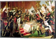 The Distribution of the Eagle Standards, 5th December 1804, detail of the standard bearers Fine-Art Print