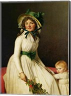 Madame Pierre Seriziat with her Son Fine-Art Print