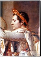 The Consecration of the Emperor Napoleon and the Coronation of the Empress Josephine, detail of Napoleon Fine-Art Print