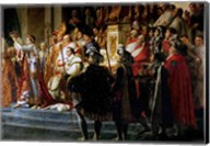 The Consecration of the Emperor Napoleon and the Coronation of the Empress Josephine, Throne Detail Fine-Art Print