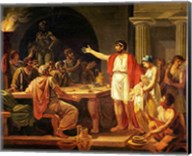 Study for Lycurgus Showing the Ancients of Sparta their King, 1791 Fine-Art Print