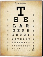 Tom Waits Eye Chart Fine-Art Print
