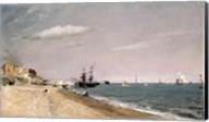 Brighton Beach with colliers, 1824 Fine-Art Print
